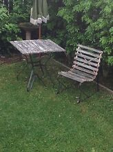 1950s wrought iron two piece outdoor setting can deliver Cremorne North Sydney Area Preview