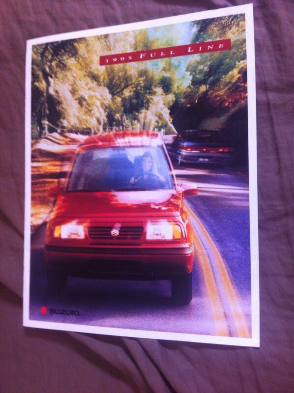1995 Suzuki Swift Samurai Sidekick USA Market Brochure Catalog Prospekt