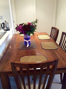 dining table with chairs solid wood - $500 ONO Turramurra Ku-ring-gai Area Preview