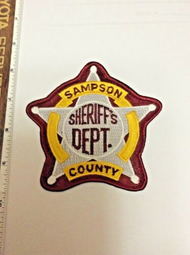 Sampson County North Carolina Sheriff Police shoulder patch New