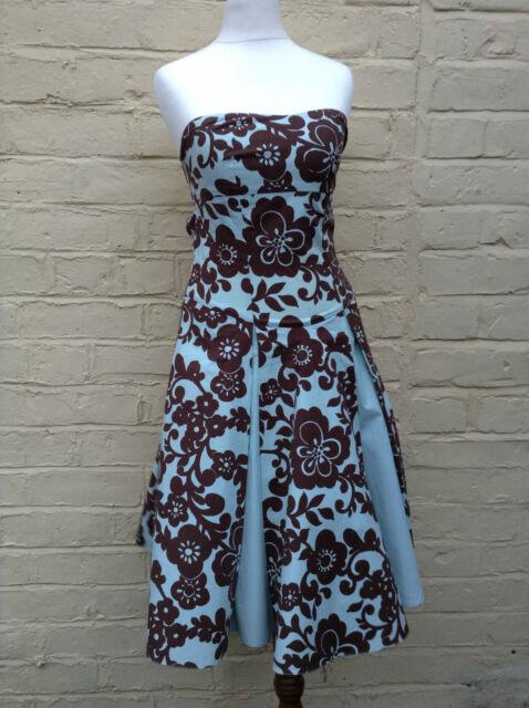 Dress retro print size 6/8 Miss Selfridge