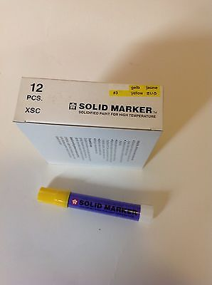 Sakura Solid Paint Markers Yellow 12 Pack