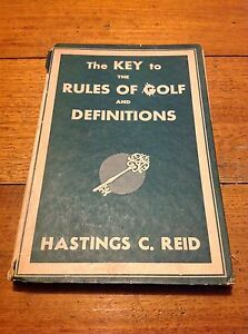 THE KEYS TO THE RULES OF GOLF 1946 Mount Martha Mornington Peninsula Preview