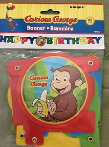 Amazing Curious George Birthday Greeting Cards Amp Party Supply Ebay Personalised Birthday Cards Veneteletsinfo