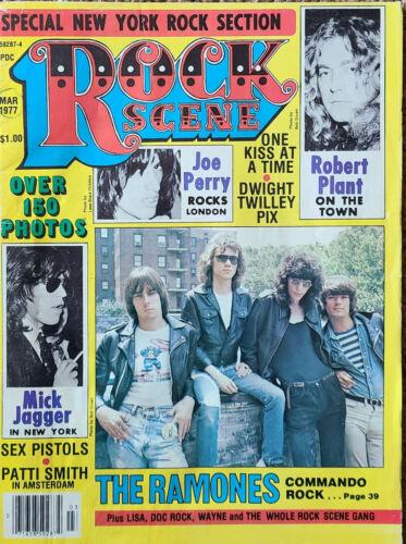 Rock Scene Magazine March 1977 Ramones cover RARE