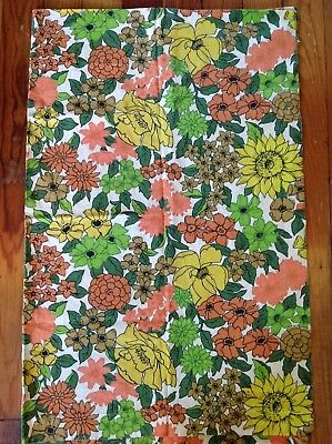 Vintage pair of 50's 60's curtains rod pocket panels 45 x 34