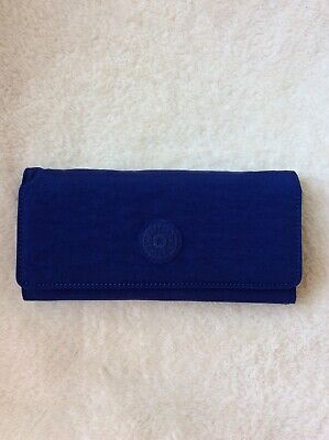 Kipling New Teddi Snap Wallet - Cobalt Dream Tonal