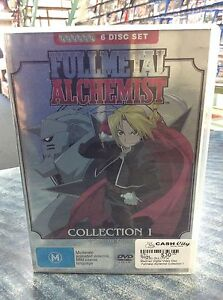 FULL METAL  ALCHEMIST 6 DISC DVD SET COLLECTION 1 Guildford Swan Area Preview