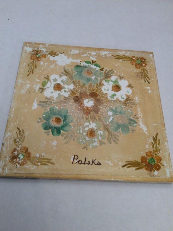 Trivet Ceramic Accent Wall Tile Polska Polish Poland Woman 6x6 Tile AA