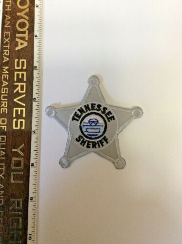 Tennessee Sheriff Silver Police Star shaped Patch New