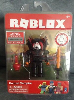 ROBLOX HUNTED VAMPIRE FOR AGES 6+ 1 FIGURE + ACCESSORIES + VIRTUAL GAME CODE (Vampire Toys For Kids)