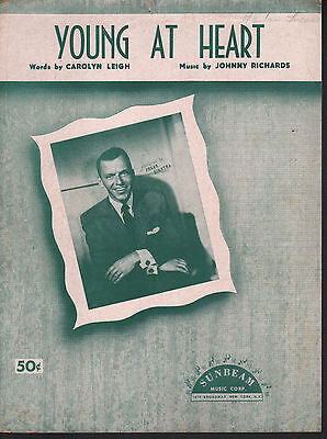 Young At Heart 1954 Frank Sinatra Cover 2 Sheet Music