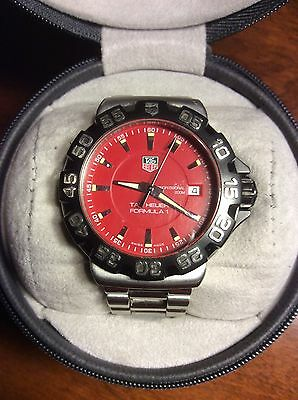 TAG HEUER FORMULA 1 RED FACE WATCH  (WAH 1112) EXCELLENT CONDITION
