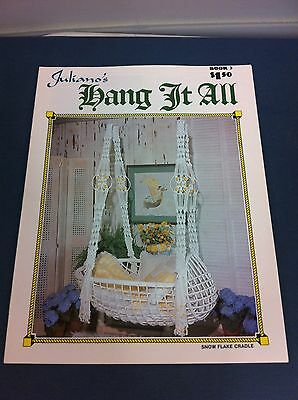 70's Vintage Juliano's Hang It All Macrame Instructions Pattern Craft Book