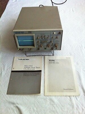 Wavetek 9012 20Mhz Dual Trace Oscilloscope with books and accessories