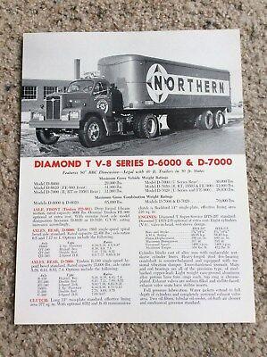 1960s  Diamond T V8 series D-6000 an D-7000 sales handout.