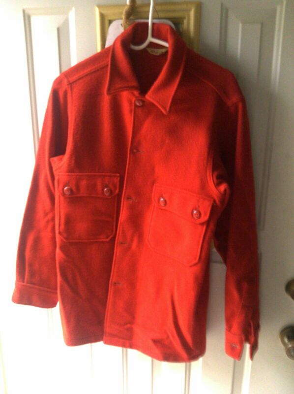 Vintage Boys Scouts of America Official Red Wool Coat Jacket BSA Size 38