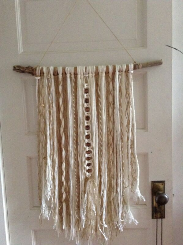 Yarn wall , fibre art, macrame home decor, Boho Decor
