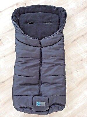 Fußsack Kinderwagen Buggy Sack Warm Winter schwarz 100 cm Altabebe unisex