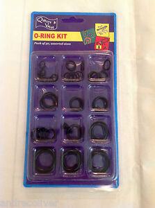 50PC RUBBER O RING ORING KIT SET 12 ASSORTED SIZES SEALS AUTO
