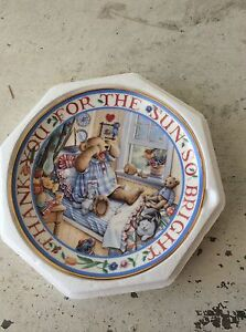 """Royal Doulton Franklin Mint """"Rise and Shine Teddy"""" Collector Plate New Farm Brisbane North East Preview"""