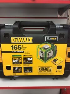 New Dewalt 12v beam battery green laser