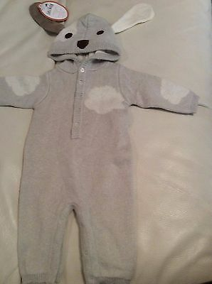 Pottery Barn Kids Baby Woven Baby Knit Puppy Halloween Costume 0-6 Months Purim