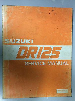 SUZUKI DR 125 SERVICE MANUAL
