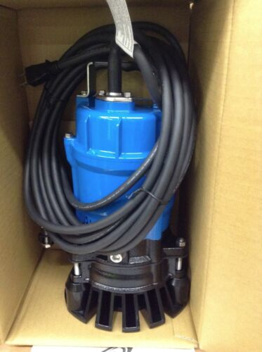 New Tsurumi HS2. Submersible Heavy Duty Trash Sump Pumps Water Transfer Sewage