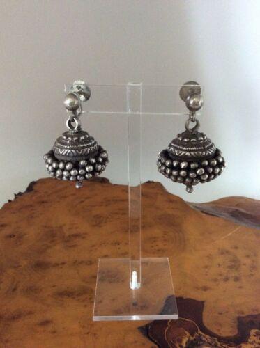 Antique Tribal Earrings - Handmade Silver 56.4 Grams