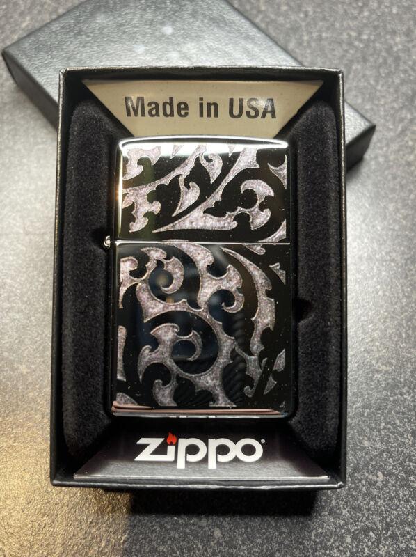 Zippo Brand New Filigree Design Marlboro Lighter