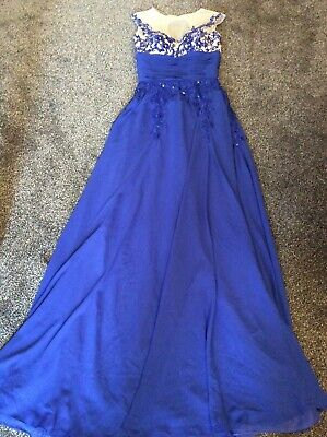 Prom / bridesmaid dress - blue - small - tall - please see measurements - used