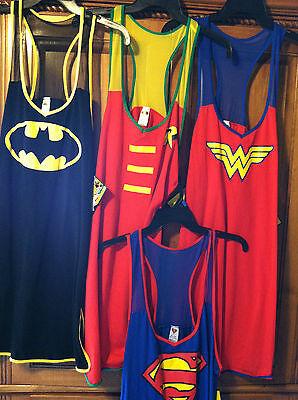 DC COMICS SUPERHERO TANK STYLE WOMENS SLEEPWEAR - PICK YOUR HERO (Womens Superhero Sleepwear)