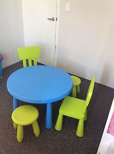 Ikea Kids Table, Two chairs and Two stools Wellard Kwinana Area Preview
