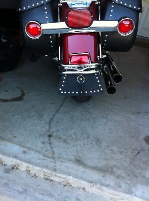 Rear Motorcycle Mud Flap Harley Davidson or Universal Double Leather, STUDS - Leather Mud Flap