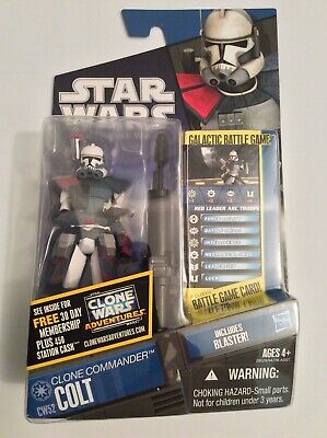 "Star Wars Clone Commander Colt 3.75"" Clone Wars Action Figure CW52"
