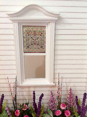 Shell Motif Dollhouse Miniature  Stained Glass Window Film