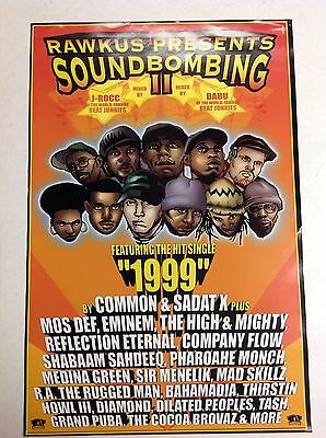 Lot of 11 RARE RAWKUS RECORDS 1999 PROMO Posters Soundbombing II EMINEM Hip Hop