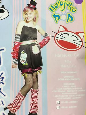 HARAJUKU Pop Girl Teen Skull Halloween Costume 10 12  NEW