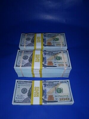 Prop Money $110,000 Highly Realistic Filler Prop Stacks Great for Filming