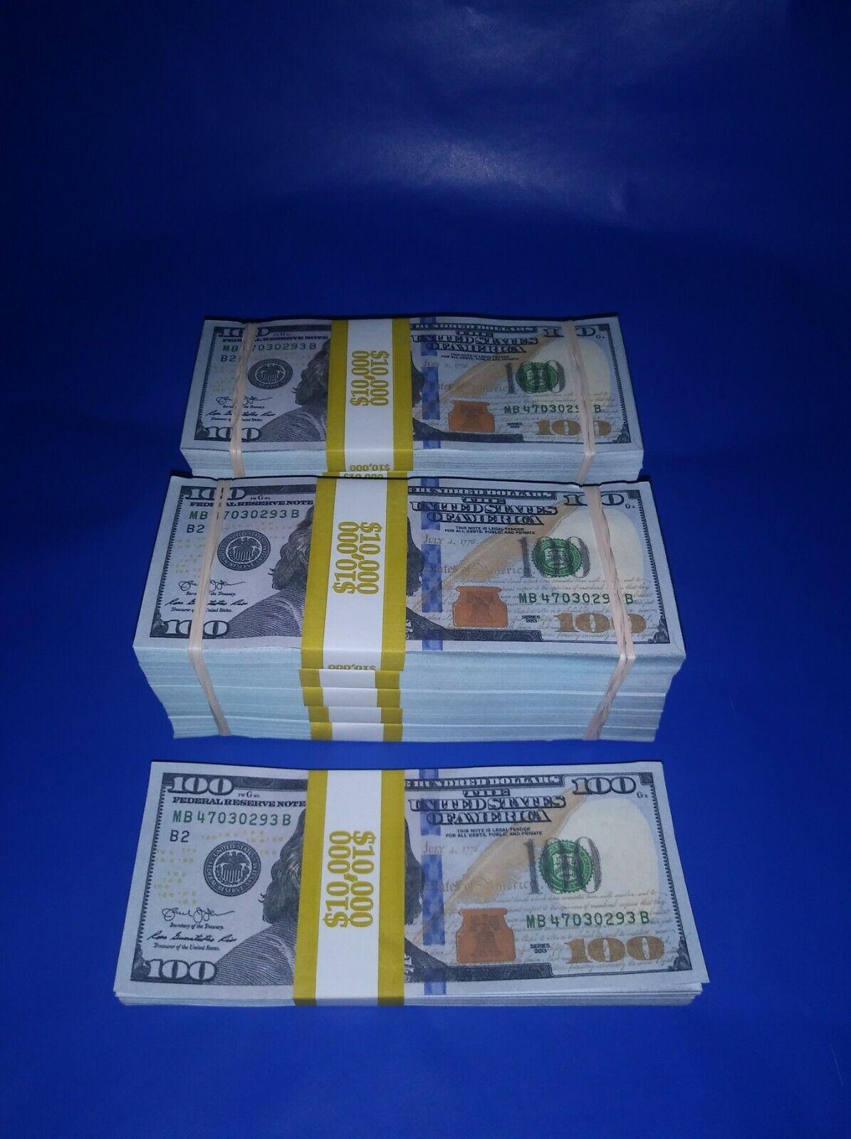 Купить Prop Money $110,000 Highly Realistic Filler Prop Stacks Great for Filming