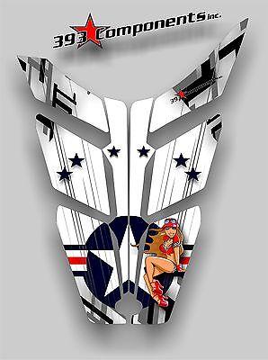 2010 - 2014 POLARIS PRO RMK-RUSH Hood Decal Sticker Graphics Aircraft Pinup