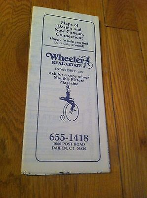 1984 Map Business Ad Brochure Darien New Canaan Connecticut Wheeler Real Estate