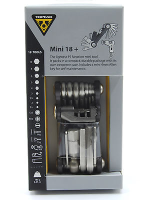 New Topeak Mini 18 Function Bike Multi Tool with Bag