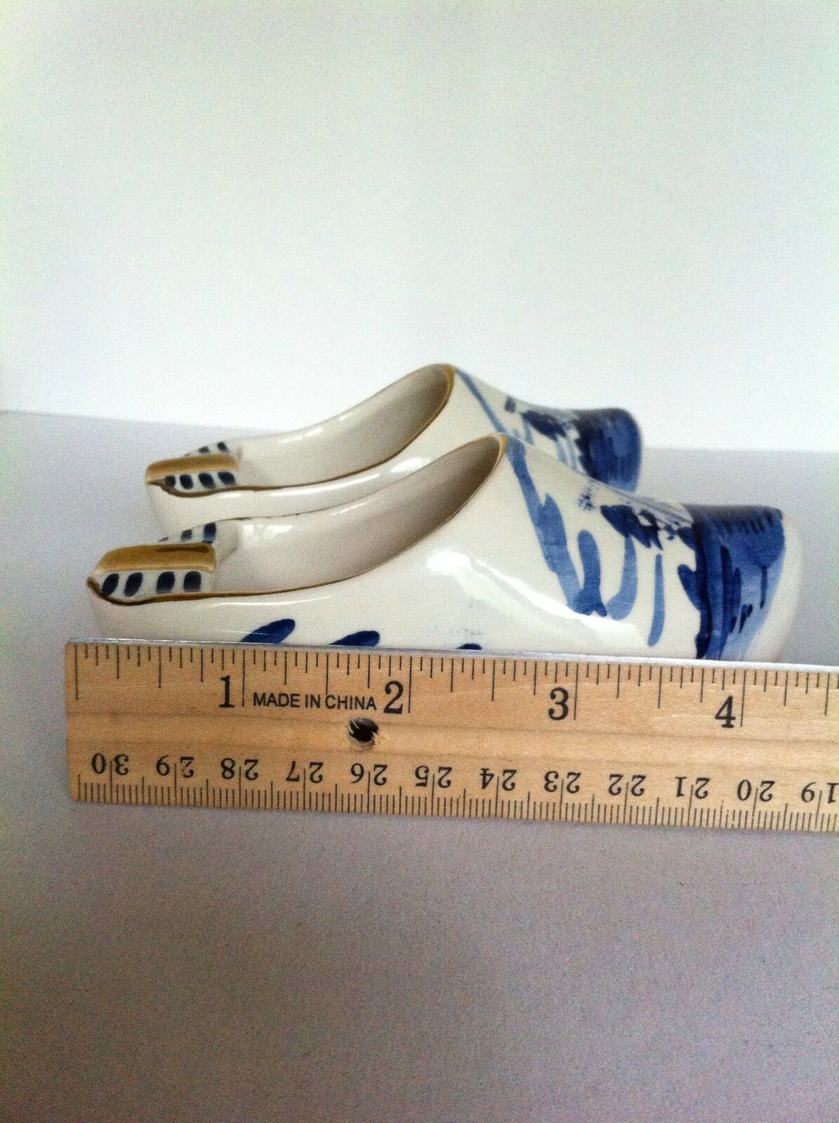 Hand Painted Porcelain Shoe Germany