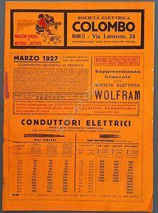 Societa-Elettrica-Colombo-Milano-Catalogo-Marzo-1927