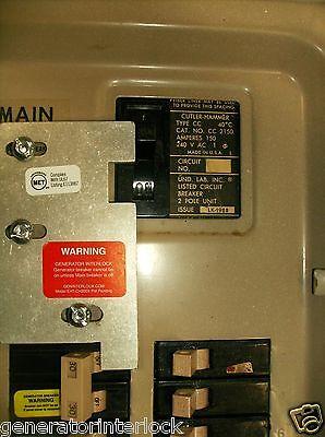 EAT-CH200XA Cutler Hammer Or Eaton Generator interlock kit 150 200 Amp CH Listed
