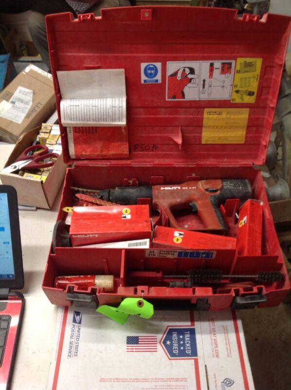 Hilti DX A41 Powder Actuated Nail Gun w/ Case & Accessories #7175