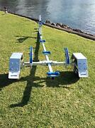 Folding Boat/Tinny Trailer, Galvanised, Suits boats up 3.7m Oak Flats Shellharbour Area Preview