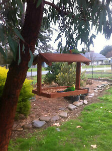 Hanging wild bird feeder, enviromentally friendly